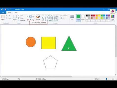 ms paint using the color picker tool learning computers for kids periwinkle youtube