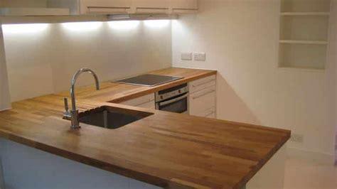 plan de travail cuisine bois traiter un plan de travail de cuisine en bois brute