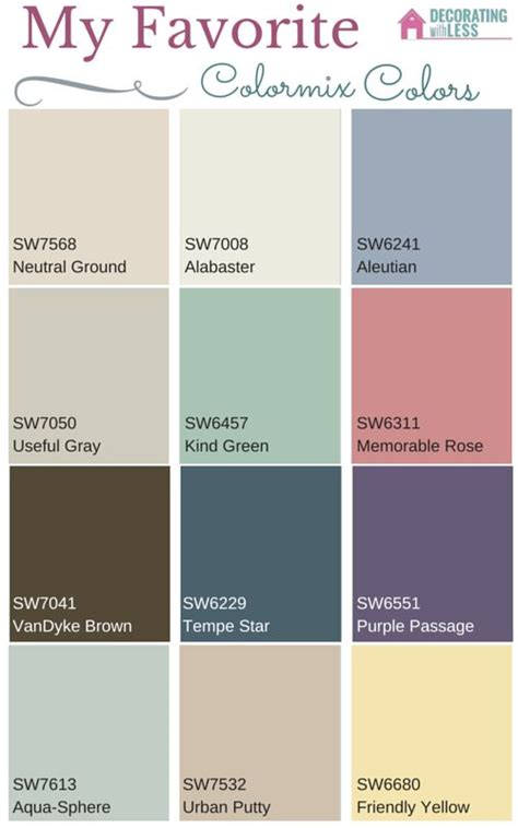sherwin williams paint color codes my favorite paint colors from sherwin williams colormix