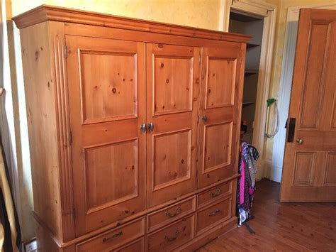 Wardrobes For Sale by Large Three Door Solid Pine Wardrobe For Sale In