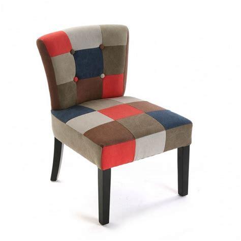 fauteuil chaise chaise fauteuil tissu patchwork canvas versa