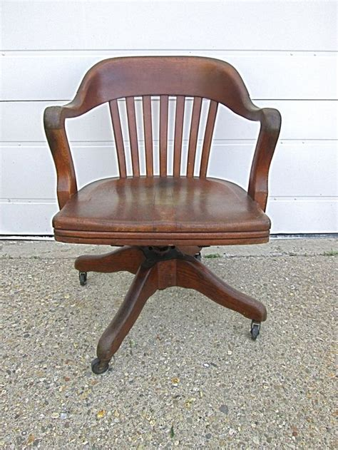 antique wooden swivel desk chair antique vtg marble shattuck wood oak swivel office desk