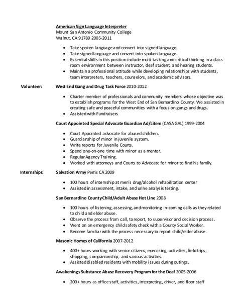 Sign Language Interpreter Resume by Sign Language Interpreter Resume Resume Ideas