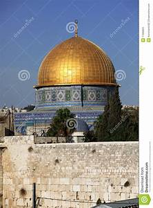 Western Wall And Dome Of The Rock Stock Image - Image of ...