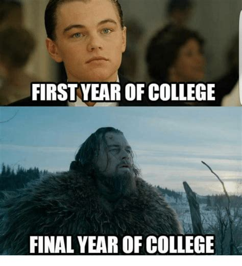College Finals Meme - first year of college final year of college meme on sizzle