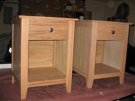 Mission Style Nightstand Plans by Craftsman Style Nightstands Buildsomething