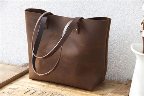 waxed canvas tote bag large brown leather tote bag sturdy premium waxed leather