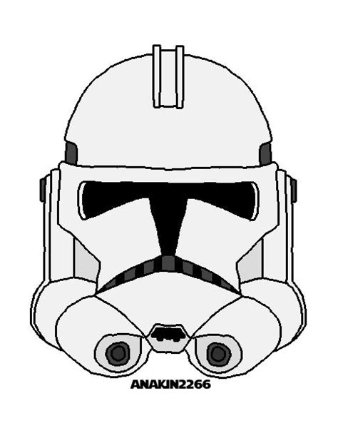 Clone Trooper Kleurplaat by Kleurplaat Starwars Masker Maskers Kleurplaten Starwars