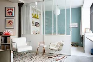 impressionnant separation cuisine salon vitree 3 50 With separation cuisine salon vitree