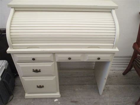 white roll top desk white roll top desk
