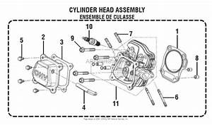 Homelite Ry9c3501 Digital Inverter Generator Mfg  No  090930281 Parts Diagram For Cylinder Head