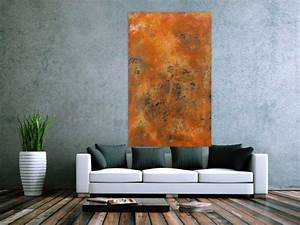 Abstrakte Kunst Kaufen : echtes rostbild xxl abstrakte kunst aus rost handgemalt auf leinwand in 60x100cm von alex zerr ~ Watch28wear.com Haus und Dekorationen
