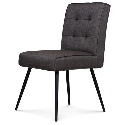chaise capitonné chaise design capitonné carré gris flanelle demeure et