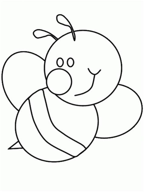 bumble bee template bumble bee outline az coloring pages