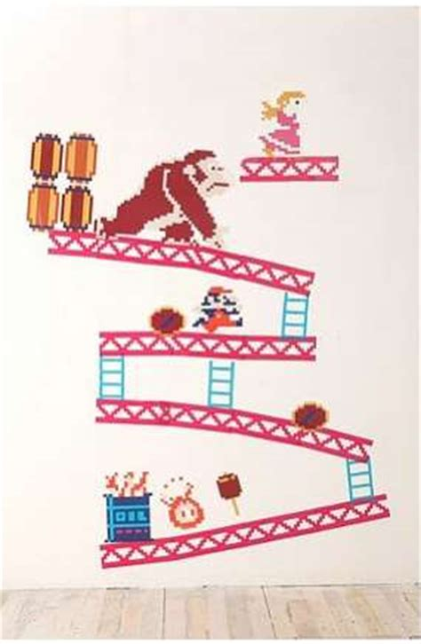 gamer wall stickers donkey kong wall decals