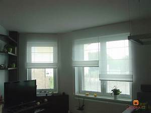 Fenstergestaltung Ohne Gardinen : ungew hnliche kombination von raffrollos heimtex ideen ~ Eleganceandgraceweddings.com Haus und Dekorationen