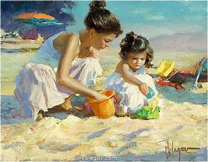 Volegov.com :: CHILDREN ON THE BEACH, painting,