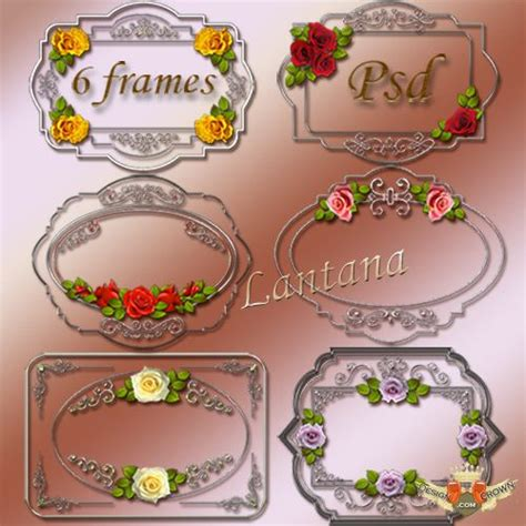 silver borders graphics psd images silver frames