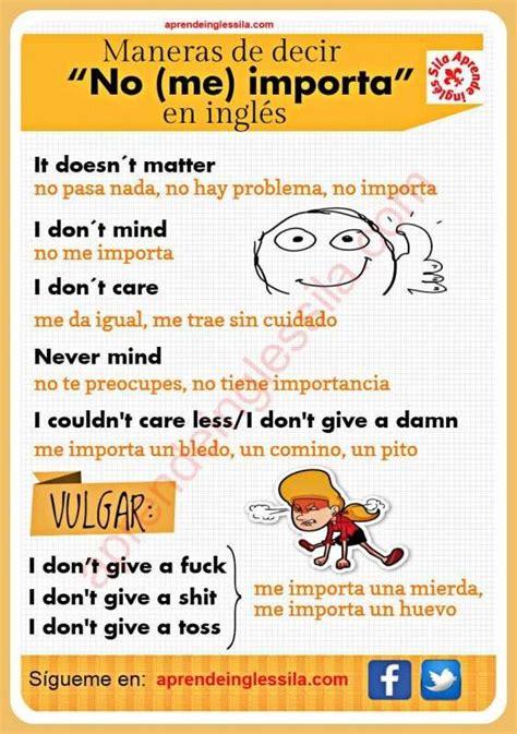 maneras de decir   importa en ingles english
