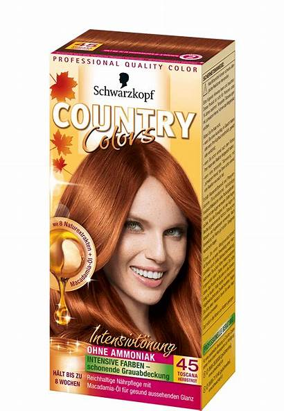 Country Haarfarbe Colors Toenung Herbstrot Schwarze Glanz