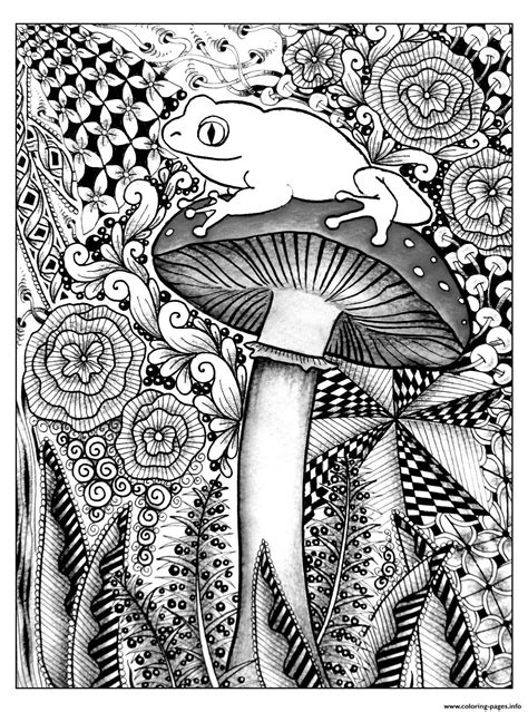 Adult Forest Frog Coloring Pages Printable