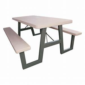 Lifetime 57 in x 72 in W-Frame Folding Picnic Table