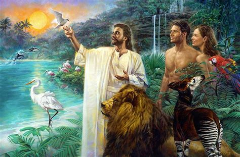 The First Sabbath In Eden By Nathan Greene