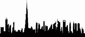 Dubai Skyline Silhouette Free