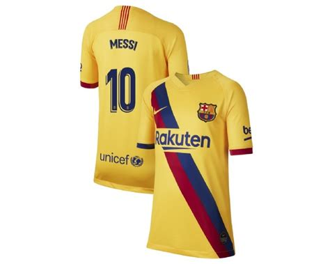 10 Lionel Messi Yellow Jersey Youth 20192020 Barcelona