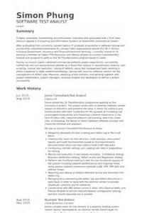 resume test analyst test analyst resume sles visualcv resume sles database