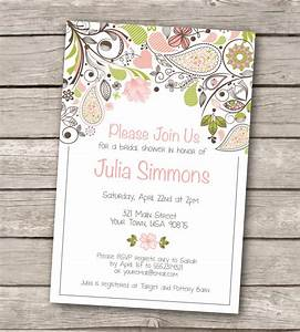 bridal shower invitation custom printable by westandpine With custom wedding shower invitations