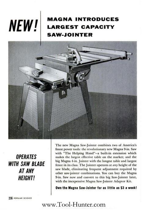 magna shopsmith  jointer ad tool huntercom