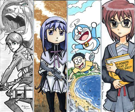 bookmarks  anime characters  printable