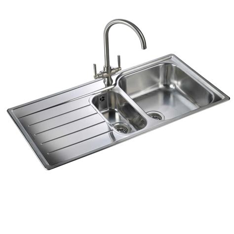 stainless steel kitchen sink rangemaster oakland ol9852 stainless steel sink kitchen 8264