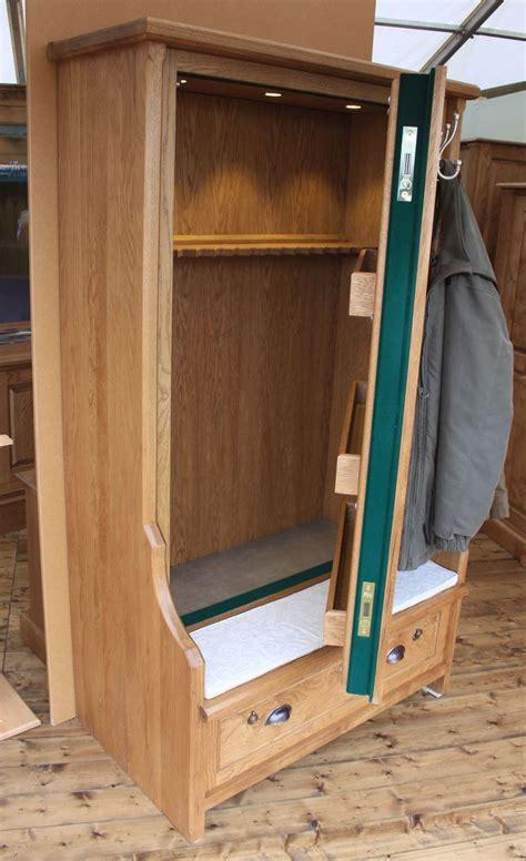 bench seat gun cabinet gun cabinets   hidden gun