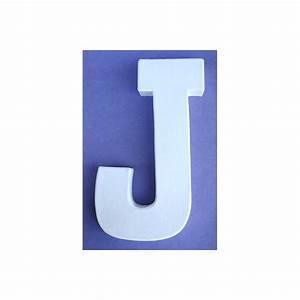 Lettre En Carton À Peindre : lettre 3d j 12cm maison pratic boutique pour vos loisirs creatifs et votre deco ~ Nature-et-papiers.com Idées de Décoration