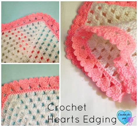 crochet edging patterns crochet hearts edging free pattern crochet pinterest