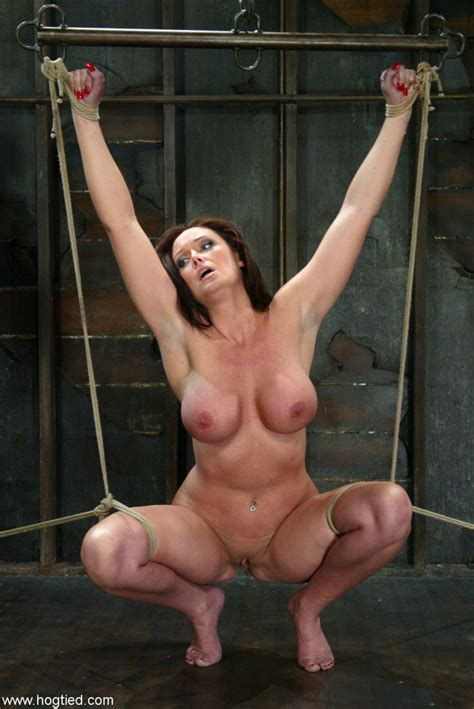 Plump lady Christina Carter feels the weight of nipple ...