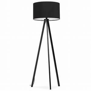 Lampe Sur Pied Scandinave : lampe sur pied de style scandinave trani en tissu noir ~ Teatrodelosmanantiales.com Idées de Décoration