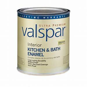 shop valspar ultra premium 1 quart interior flat enamel With latex paint in bathroom