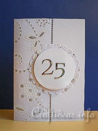 25th anniversary card (With images) Anniversary cards