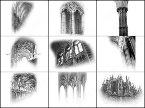 Architecture Gothic Photoshop Brushes Free
