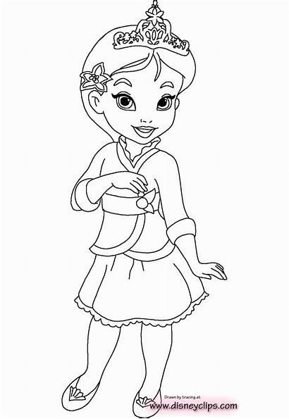 Coloring Princess Jasmine Disney Colouring Princesses Printable