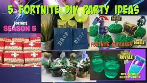 5 DIY Fortnite Party Ideas I DIY I How to Cook Craft