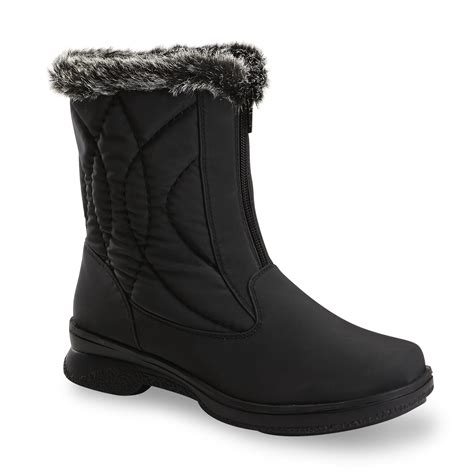 athletech womens quest  black winter boot medium