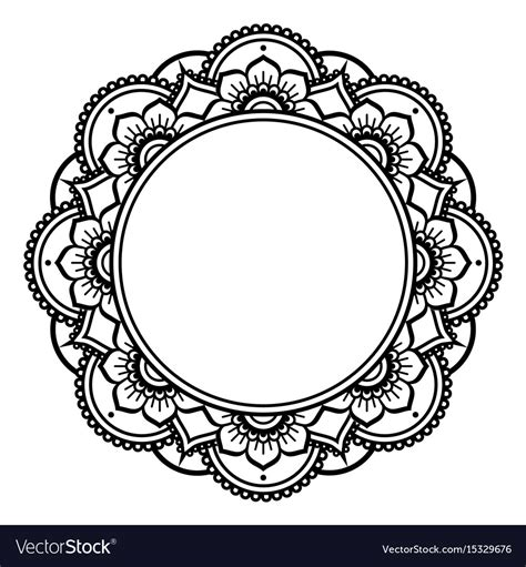 Download thousands of free icons of cultures in svg, psd, png, eps format or as icon font. Mandala design mehndi henna tattoo inspired round Vector Image