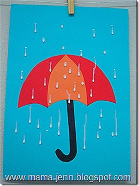 umbrella  raindrops fun family crafts