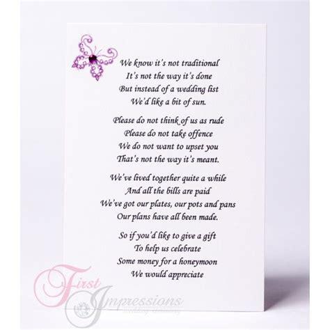 wedding invitation wording money   gifts