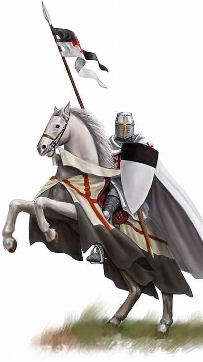 Templar Knight Knights Shield Fantasy Wallpapers Horses