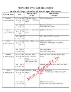 Up Board 12th Exam Time Table 2017